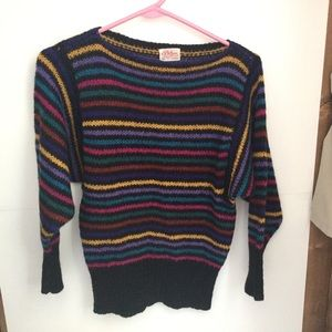 Vintage ladies multi coloured sweater sz small
